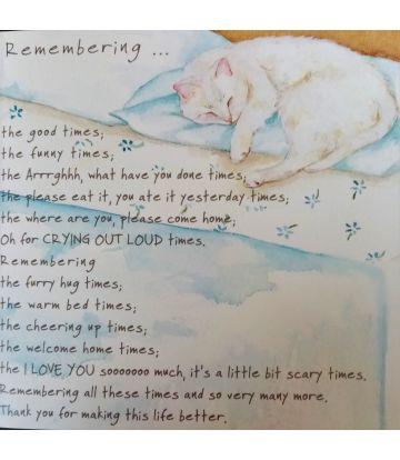 Remenbrance Card - for Cats